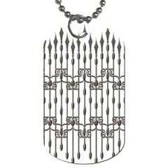 Iron Fence Grey Strong Dog Tag (two Sides) by Alisyart