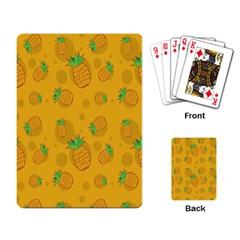 Fruit Pineapple Yellow Green Playing Card by Alisyart