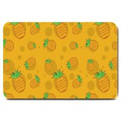 Fruit Pineapple Yellow Green Large Doormat  by Alisyart