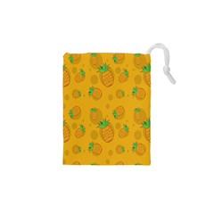 Fruit Pineapple Yellow Green Drawstring Pouches (xs)  by Alisyart