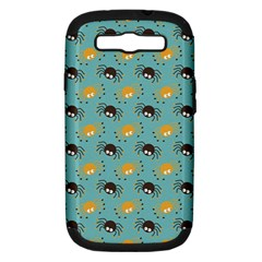 Spider Grey Orange Animals Cute Cartoons Samsung Galaxy S Iii Hardshell Case (pc+silicone) by Alisyart