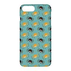 Spider Grey Orange Animals Cute Cartoons Apple Iphone 7 Plus Hardshell Case by Alisyart