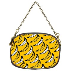 Fruit Bananas Yellow Orange White Chain Purses (two Sides)  by Alisyart