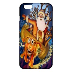 Deer Santa Claus Flying Trees Moon Night Christmas Iphone 6 Plus/6s Plus Tpu Case by Alisyart