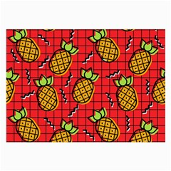 Fruit Pineapple Red Yellow Green Large Glasses Cloth (2 Side) by Alisyart