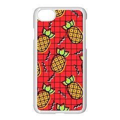 Fruit Pineapple Red Yellow Green Apple Iphone 7 Seamless Case (white) by Alisyart
