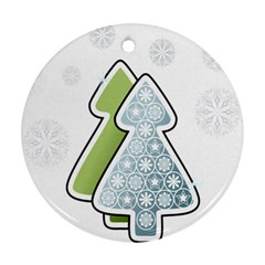 Tree Spruce Xmasts Cool Snow Ornament (round)