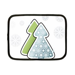 Tree Spruce Xmasts Cool Snow Netbook Case (small)  by Alisyart