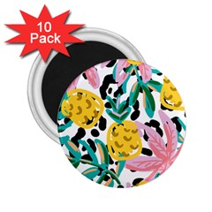 Fruit Pattern Pineapple Leaf 2 25  Magnets (10 Pack)  by Alisyart