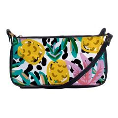 Fruit Pattern Pineapple Leaf Shoulder Clutch Bags by Alisyart