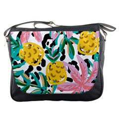 Fruit Pattern Pineapple Leaf Messenger Bags by Alisyart