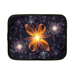 Beautiful Orange Star Lily Fractal Flower At Night Netbook Case (small)  by beautifulfractals