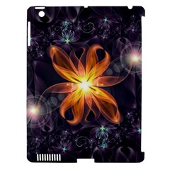 Beautiful Orange Star Lily Fractal Flower At Night Apple Ipad 3/4 Hardshell Case (compatible With Smart Cover) by beautifulfractals