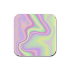 Holographic Design Rubber Square Coaster (4 Pack)  by tarastyle