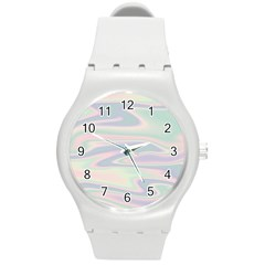Holographic Design Round Plastic Sport Watch (m) by tarastyle
