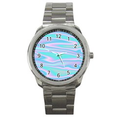 Holographic Design Sport Metal Watch by tarastyle