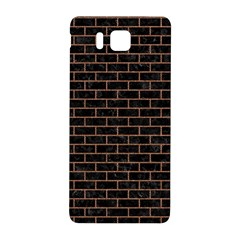 Brick1 Black Marble & Brown Denim (r) Samsung Galaxy Alpha Hardshell Back Case by trendistuff