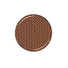 Brick2 Black Marble & Brown Denim Hat Clip Ball Marker (4 Pack) by trendistuff