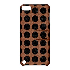 Circles1 Black Marble & Brown Denim Apple Ipod Touch 5 Hardshell Case With Stand by trendistuff