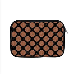 Circles2 Black Marble & Brown Denim (r) Apple Macbook Pro 15  Zipper Case by trendistuff