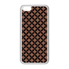 Circles3 Black Marble & Brown Denim Apple Iphone 5c Seamless Case (white) by trendistuff