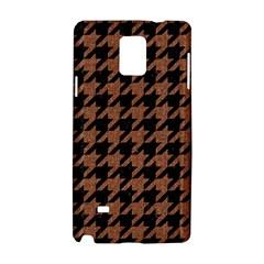 Houndstooth1 Black Marble & Brown Denim Samsung Galaxy Note 4 Hardshell Case by trendistuff