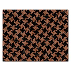 Houndstooth2 Black Marble & Brown Denim Rectangular Jigsaw Puzzl by trendistuff