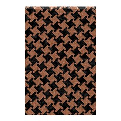 Houndstooth2 Black Marble & Brown Denim Shower Curtain 48  X 72  (small)  by trendistuff
