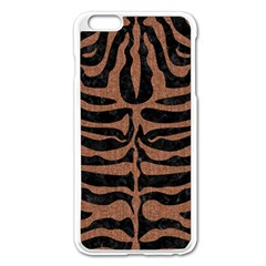 Skin2 Black Marble & Brown Denim (r) Apple Iphone 6 Plus/6s Plus Enamel White Case by trendistuff