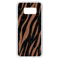 Skin3 Black Marble & Brown Denim (r) Samsung Galaxy S8 White Seamless Case by trendistuff