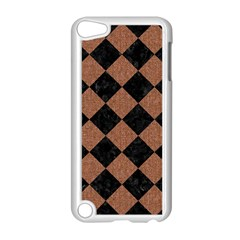 Square2 Black Marble & Brown Denim Apple Ipod Touch 5 Case (white) by trendistuff
