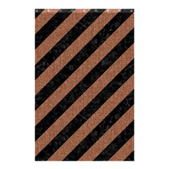 Stripes3 Black Marble & Brown Denim (r) Shower Curtain 48  X 72  (small)  by trendistuff