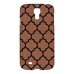 Tile1 Black Marble & Brown Denim Samsung Galaxy S4 I9500/i9505 Hardshell Case by trendistuff