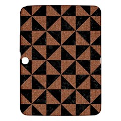 Triangle1 Black Marble & Brown Denim Samsung Galaxy Tab 3 (10 1 ) P5200 Hardshell Case  by trendistuff
