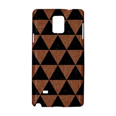 Triangle3 Black Marble & Brown Denim Samsung Galaxy Note 4 Hardshell Case by trendistuff