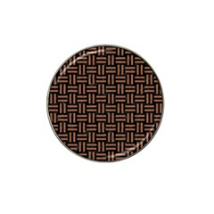 Woven1 Black Marble & Brown Denim (r) Hat Clip Ball Marker (10 Pack) by trendistuff