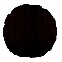 Brick2 Black Marble & Dark Brown Wood Large 18  Premium Flano Round Cushions by trendistuff