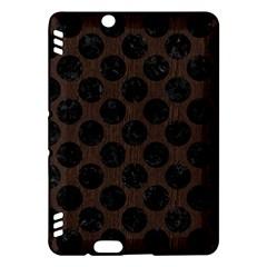Circles2 Black Marble & Dark Brown Wood Kindle Fire Hdx Hardshell Case by trendistuff