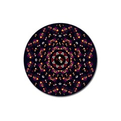 Floral Skulls In The Darkest Environment Magnet 3  (round) by pepitasart