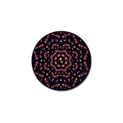 Floral Skulls In The Darkest Environment Golf Ball Marker (4 Pack) by pepitasart