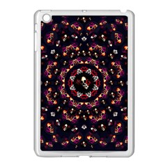 Floral Skulls In The Darkest Environment Apple Ipad Mini Case (white) by pepitasart