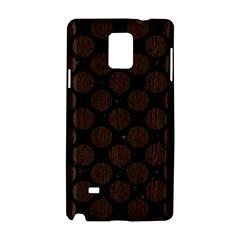 Circles2 Black Marble & Dark Brown Wood (r) Samsung Galaxy Note 4 Hardshell Case by trendistuff