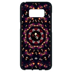 Floral Skulls In The Darkest Environment Samsung Galaxy S8 Black Seamless Case by pepitasart