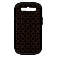 Circles3 Black Marble & Dark Brown Wood (r) Samsung Galaxy S Iii Hardshell Case (pc+silicone) by trendistuff