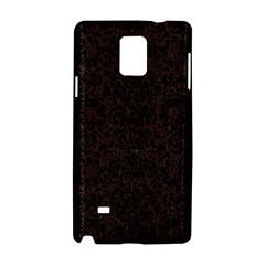 Damask2 Black Marble & Dark Brown Wood Samsung Galaxy Note 4 Hardshell Case by trendistuff