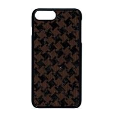 Houndstooth2 Black Marble & Dark Brown Wood Apple Iphone 8 Plus Seamless Case (black)