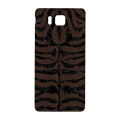 Skin2 Black Marble & Dark Brown Wood Samsung Galaxy Alpha Hardshell Back Case by trendistuff