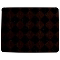 Square2 Black Marble & Dark Brown Wood Jigsaw Puzzle Photo Stand (rectangular) by trendistuff
