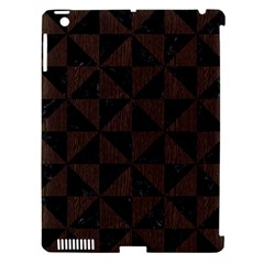 Triangle1 Black Marble & Dark Brown Wood Apple Ipad 3/4 Hardshell Case (compatible With Smart Cover) by trendistuff