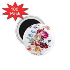 Fleur Vintage Floral Painting 1 75  Magnets (100 Pack)  by Celenk